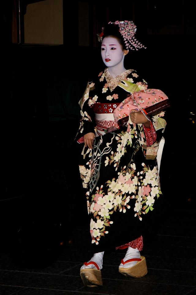 Kyoto maiko kimono noir